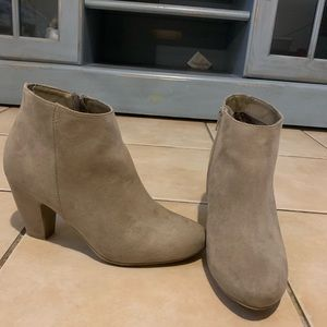 Express Tan Ankle Booties